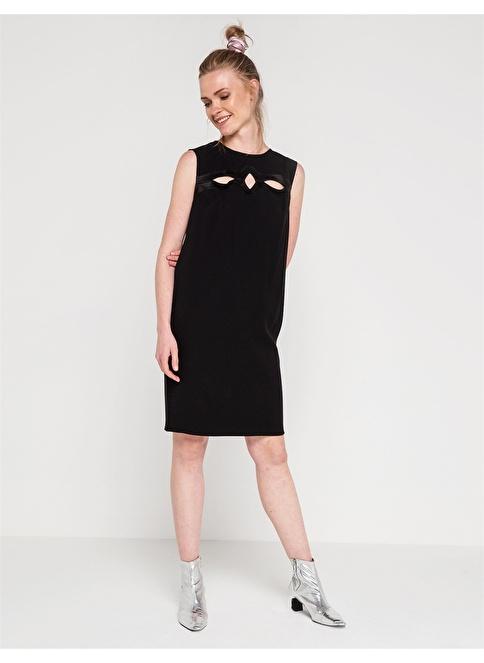 Love'n Fashion Paris Kolsuz Kısa Elbise Siyah